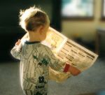 Baby with Paper